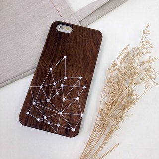 Geometric Lines and Points Real Wood iPhone Case for iPhone 6/6S, iPhone 6/6S Plus