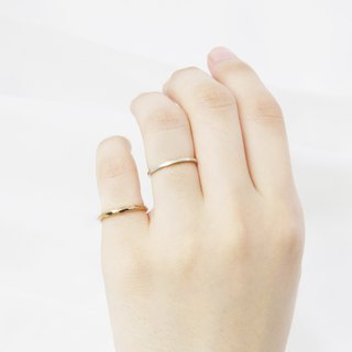 Ring Square Ring + Square Twist Ring Sterling Silver Ring (Double Piece Set - 2 Colors Available) Tail Line Ring - ART64