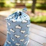[ 白月兔-束口袋 ] Cocoon 手製布包