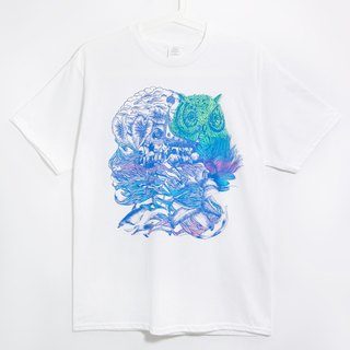 Valentines Day illustration men fit cotton Tee / T-shirt - to Lanyu, travel (white)!