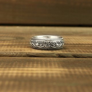 [METALIZE] 925 Silver Carving Ring 925 Silver Carving Ring
