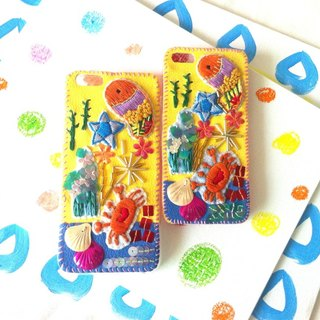 Underwater World Embroidery Beads Phone Case