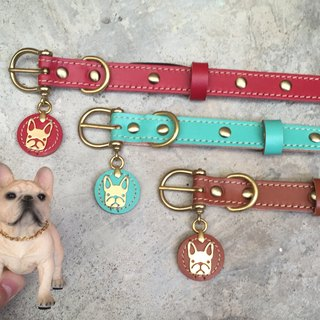 Oops French Bulldogs Micro Rivets Leather Collar S Method - Mother's Day Gift -