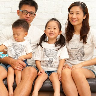 [National Treasure Tour Taiwan - Taiwan Sika Deer (Big Girl)] Family Pack / Short Sleeve T-shirt