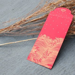 Red Envelope/Gold Stamping in Imagery Waves/Medium Size