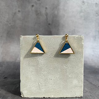 paper airplane - handmade leather earrings