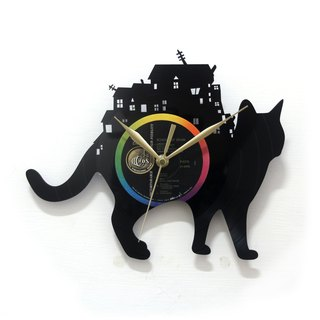 Cat Travel Cat in Traveler Vinyl Clock