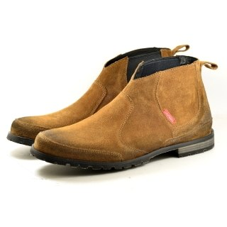 [Dogyball] Apache Elastic Boot Chelsea Boots Chalky Boots Brown