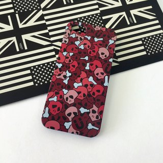 Skull Red Pattern Print Soft / Hard Case for iPhone X,  iPhone 8,  iPhone 8 Plus, iPhone 7, iPhone 7 Plus, iphone 6/6S , iphone 6/6S PLUS