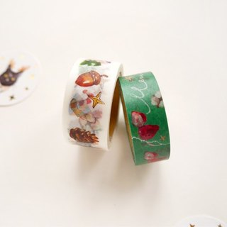 Christmas cat paper tape kit (two into groups)