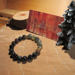 Moonlight in the swamp / handmade stone bracelet