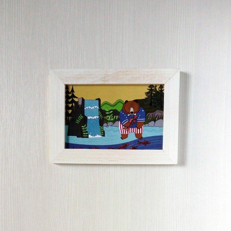 熊熊拿努搬新家系列 棕熊插畫明信片
