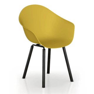 TOOU ArmShell Chair with black oak legs (Mustard Yellow)