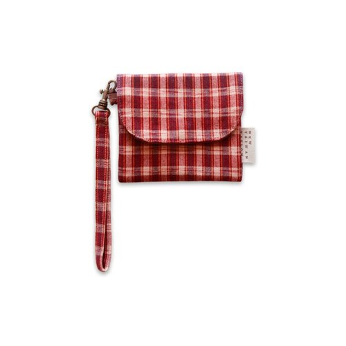 【Short wallet purse】 Plaid