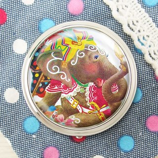 Mirror elephant - jewelry storage box storage box ︱ ︱ headset handicraft small objects storage box ︱ ︱ built round mirror side fashion accessories