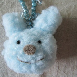 Baby Blue Bunny Bag Charm / Key Chains