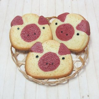 JMI Handmade Bakery pink pig shape hand-made biscuits (Total 10 5 packs)