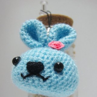 [This] age ❤ ~ cute tabby cat rabbit head. Charm