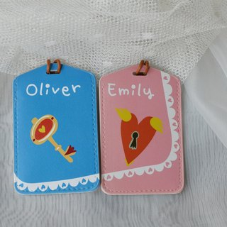 Luggage Tag - Customized surnames Valentine's Day / wedding gift