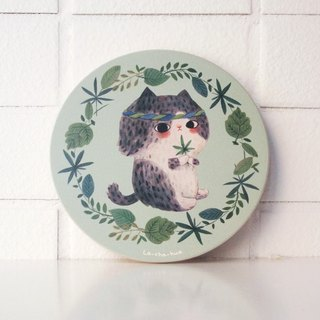 Ceramic water coaster - hippies Lara