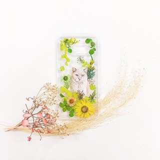 Taiwan's free shipping hand-painted animal cat flowers mobile phone shell