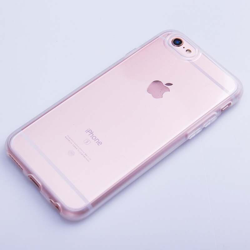 AOORTI :: Apple iPhone X / 8/7/6 / 6s / se all-inclusive transparent soft shell - transparent / hair lines two