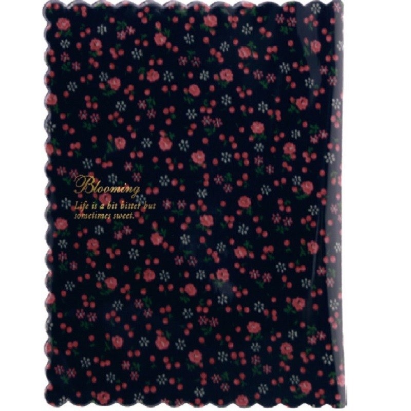 Japan 【LABCLIP】 Frill Series Book cover book cover (small) dark blue