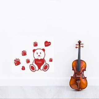 Smart Design Seamless wall stickers creative gift bears ◆ 8 color options