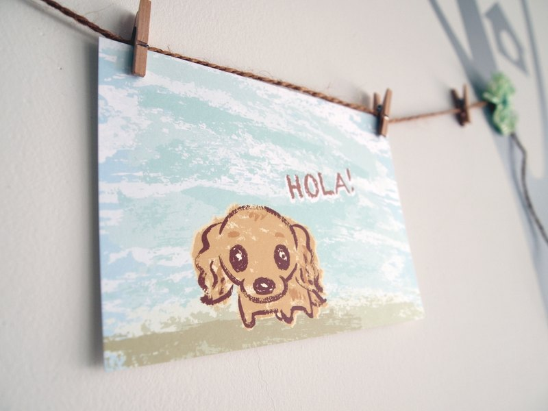Postcards -! Hola sausage dog