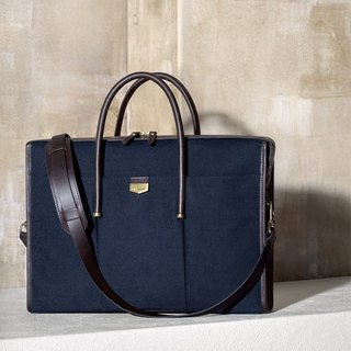 【ADOLE】 Arc de Triomphe briefcase - navy blue