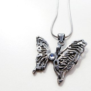Butterfly silver necklace (metamorphosis)