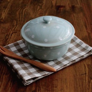 Ashely Portuguese Handmade Water Jasmine Roast Porridge / Roasted Pot / Pork (Lake Blue)