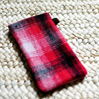Paralife tailor-made red and black checkered hand-made mobile phone sets can be added embroidery personalized name