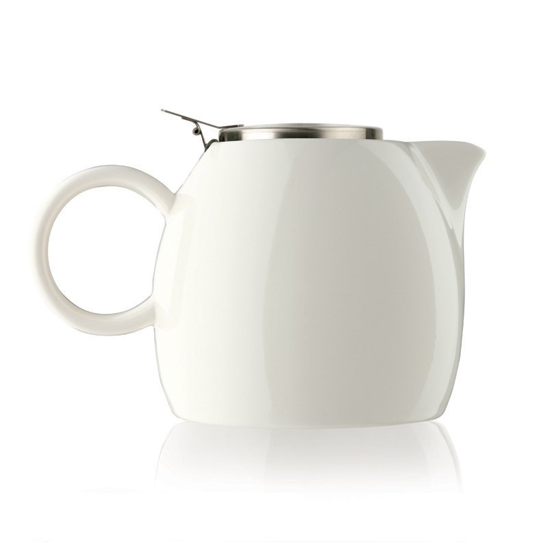 Tea Forte Ceramic Teapot - White Porcelain Orchid White