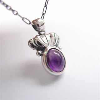 Classical Series 8--- Amethyst 925 Sterling Silver Necklace