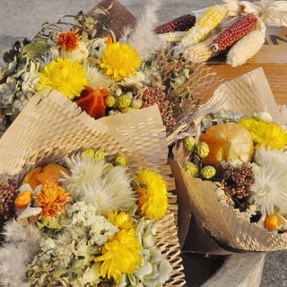Fall for ever Enjoy autumn caramelized dry bouquets