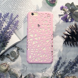 iPhone6 ​​Plus / phone shell / hard shell / bird feather pink / gift / braid
