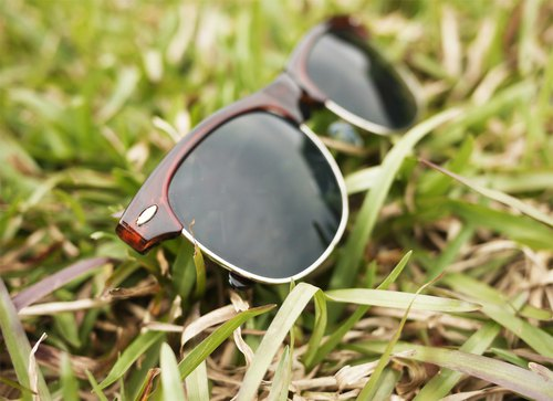 Sunglasses│Brown Half-Rim Frame│Black Lens│ UV400 protection│2is SeanS7