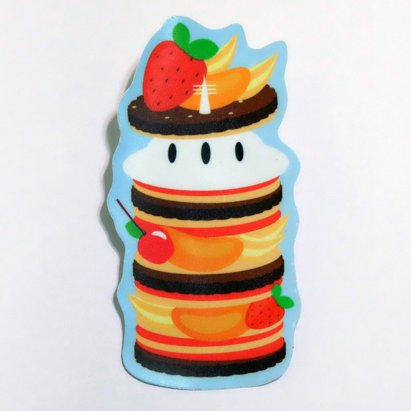 Afternoon tea party: Sandwich biscuits large party waterproof stickers