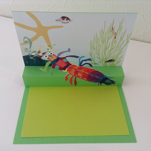 Pop-up Card: Garage (Mantis shrimp)