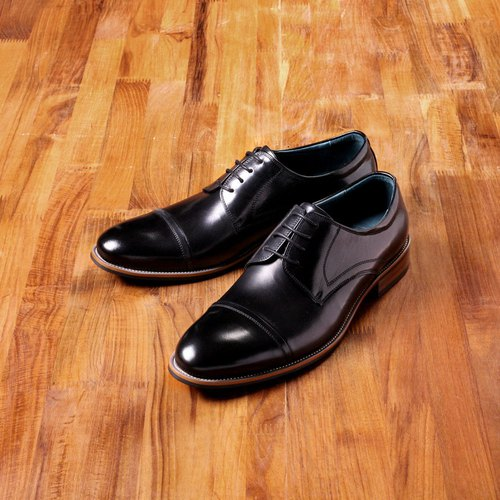 Vanger elegant beauty ‧ Concise Cap-Toe Derby shoes Va192 black