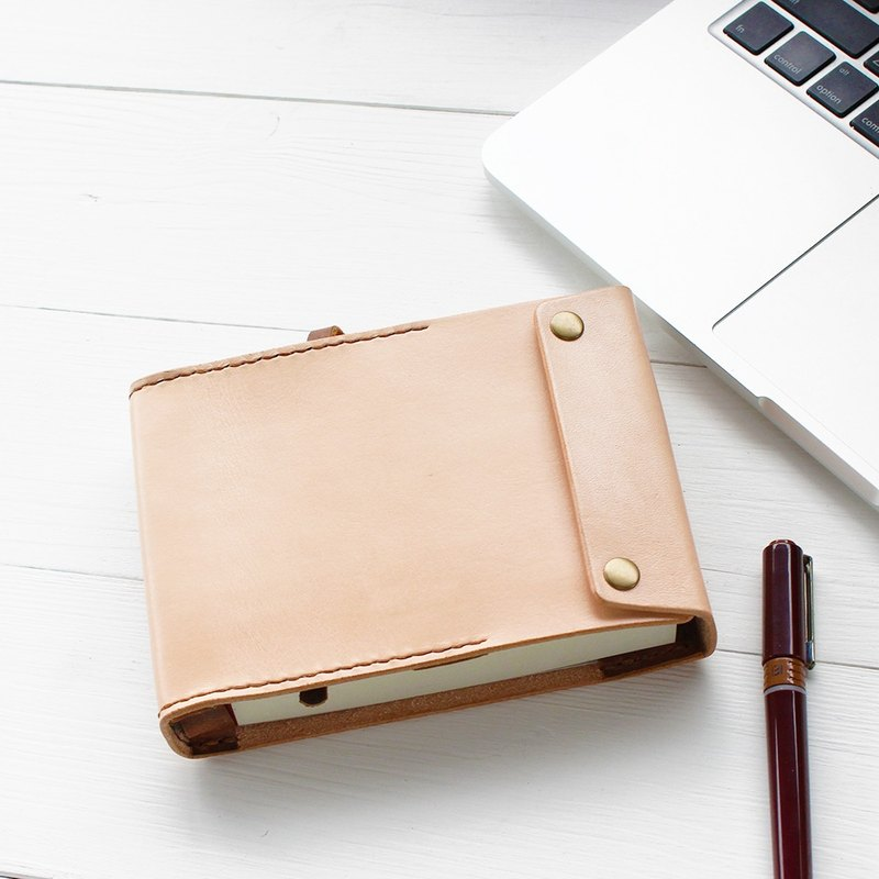 Minimal primary color yak leather manual notebook