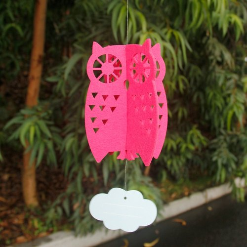 UPICk original product life perspective owl ornaments - Rose / coffee manual DIY hand-made three-dimensional Charm
