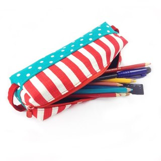 WaWu Pen Case(Red and white stripes)