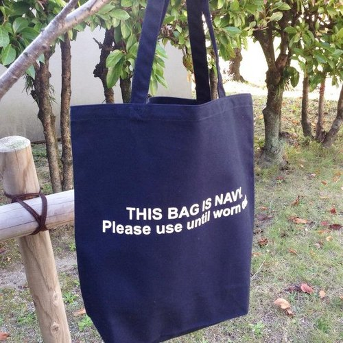 THIS BAG IS NAVY. トートバッグ