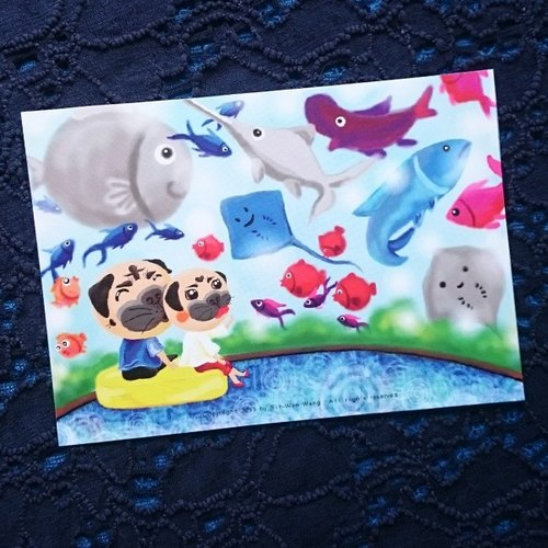 Pug Postcard-Together with you-06