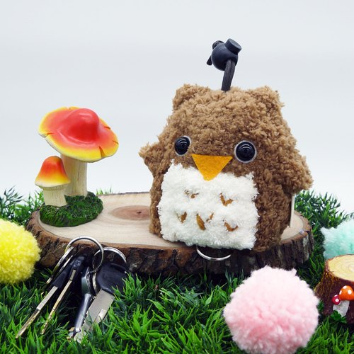 Marshmallow animals Wallets - Large Wallets (light owl)