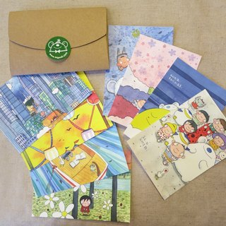 Postcard Set of 8 of YOUR SELECTION Illustration by Bigsoil