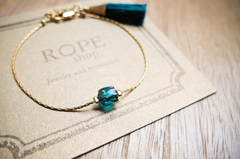 ROPEshop [Little Oriental] series bracelet. Malachite green