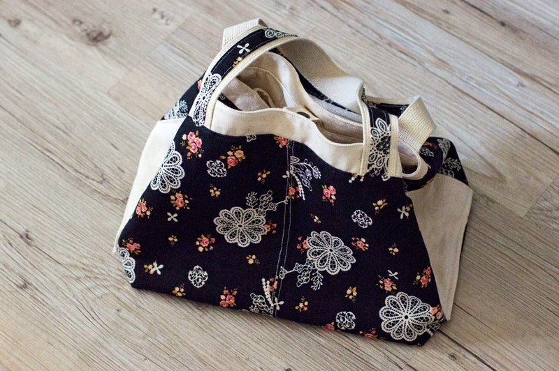 Love the Earth rose hand-made bag * small floral elegant bag | choose your favorite fabric